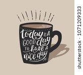 morning coffee. vector... | Shutterstock .eps vector #1071209333