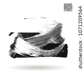 grey  brush stroke and texture. ... | Shutterstock .eps vector #1071209564