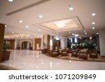 luxury hotel lobby blurred... | Shutterstock . vector #1071209849