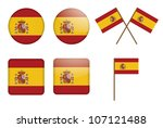 set of badges with flag of... | Shutterstock .eps vector #107121488
