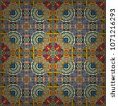 seamless ethnic patterns in... | Shutterstock .eps vector #1071216293