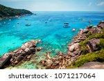similan islands  andaman sea ... | Shutterstock . vector #1071217064