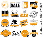 set of sale icons  banners ... | Shutterstock . vector #1071220079