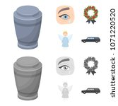 the urn with the ashes of the... | Shutterstock .eps vector #1071220520