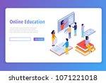 online education  e learning... | Shutterstock .eps vector #1071221018
