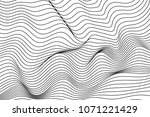 wave lines pattern abstract... | Shutterstock .eps vector #1071221429
