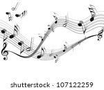 musical vector background   Shutterstock .eps vector #107122259