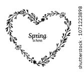 floral frame  heart shape for... | Shutterstock .eps vector #1071223898