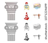 column  master with drawing ... | Shutterstock .eps vector #1071224699