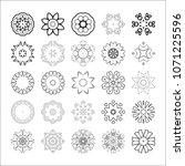 circular drawing  mandalas for... | Shutterstock . vector #1071225596