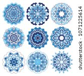 mandalas collection. asian... | Shutterstock . vector #1071225614