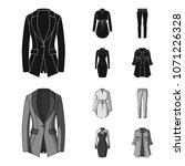 women clothing black monochrom...   Shutterstock .eps vector #1071226328