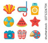 set of flat vector icons for... | Shutterstock .eps vector #1071226754