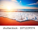 sunset and sea | Shutterstock . vector #1071229574