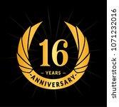 16 years anniversary. elegant... | Shutterstock .eps vector #1071232016