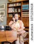 women wear thailand national...   Shutterstock . vector #1071233618