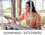 women wear thailand national...   Shutterstock . vector #1071233630