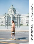 women wear thailand national...   Shutterstock . vector #1071233648