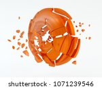 plates for shooting sports ... | Shutterstock . vector #1071239546