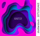paper cut abstract background... | Shutterstock .eps vector #1071241463