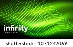 abstract wave on dark... | Shutterstock .eps vector #1071242069