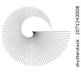 abstract spiral black white... | Shutterstock .eps vector #1071243008