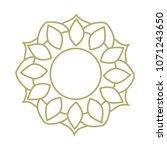 gold logo frame  mandala | Shutterstock .eps vector #1071243650