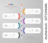 timeline infographics design... | Shutterstock .eps vector #1071246686