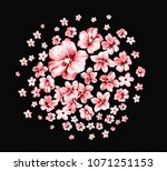 the deformation of flowers  the ... | Shutterstock . vector #1071251153