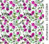 seamless watercolor pattern of... | Shutterstock . vector #1071251864