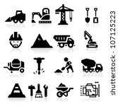 construction icons | Shutterstock .eps vector #107125223