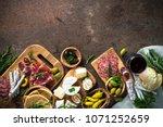 antipasto delicatessen   sliced ... | Shutterstock . vector #1071252659