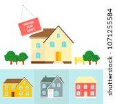 banner for sales  advertising... | Shutterstock .eps vector #1071255584
