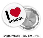 i love school steel pin brooch... | Shutterstock .eps vector #1071258248