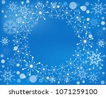 snowflake  wreath isolated.... | Shutterstock . vector #1071259100