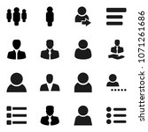 flat vector icon set   manager... | Shutterstock .eps vector #1071261686