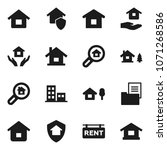 flat vector icon set   house... | Shutterstock .eps vector #1071268586