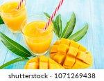 refreshing drinks for summer ... | Shutterstock . vector #1071269438