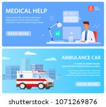web banners with medical staff  ... | Shutterstock .eps vector #1071269876