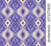 seamless retro pattern with... | Shutterstock .eps vector #1071271820