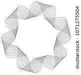 geometric stripped ribbon... | Shutterstock .eps vector #1071275504