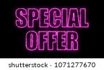 letters of special price text... | Shutterstock . vector #1071277670