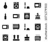 flat vector icon set   toilet... | Shutterstock .eps vector #1071279503