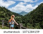 Young Woman Hiking In The...