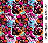 paint strokes seamless pattern... | Shutterstock .eps vector #1071284654