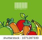 fruits and vegetables super...   Shutterstock .eps vector #1071287330