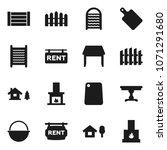 flat vector icon set  ... | Shutterstock .eps vector #1071291680