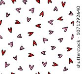 seamless romantic pattern.... | Shutterstock .eps vector #1071292640
