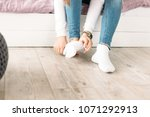 white socks on the floor | Shutterstock . vector #1071292913