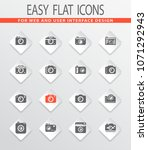 photo camera icon set for web...   Shutterstock .eps vector #1071292943